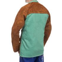 WeldasLava Brown™ hegesztőkabát hasított tehénbérből készült elülső résszel és égésálló pamut hátrésszel XXXL