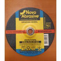Csiszolókorong NOVO Metal 27 230x6,0x22 A24RBF Szénacélhoz