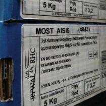 Hegesztőpálca AWI Alumínium MOST AlSi 5 (4043) 3,2x1000mm 5kg/darab