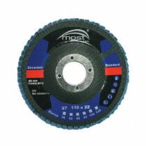 Lamellás csiszolókorong MOST STAND. ZIRCONIUM 115x22/40 Kúpos S.29