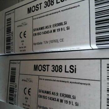 Hegesztőpálca AWI INOX MOST FX 308 LSi TIG 2,4x1000mm 5kg/darab