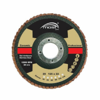 Lamellás csiszolókorong MOST CERAMIC PRO 180x22/80 Kúpos S29
