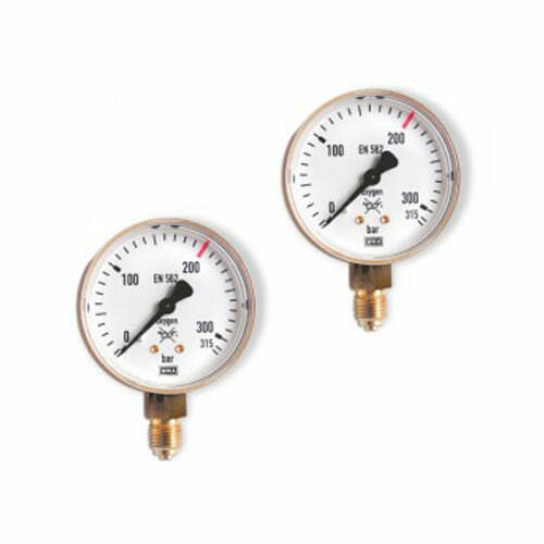 Manométer GCE Oxigén 315/200 BAR 63 mm